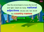 pick national adjectives